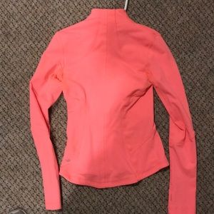 Tops - Coral (pink/orange) Lululemon Zip Up